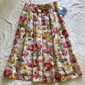 Never Worn Vintage Linen Floral Skirt from Austria